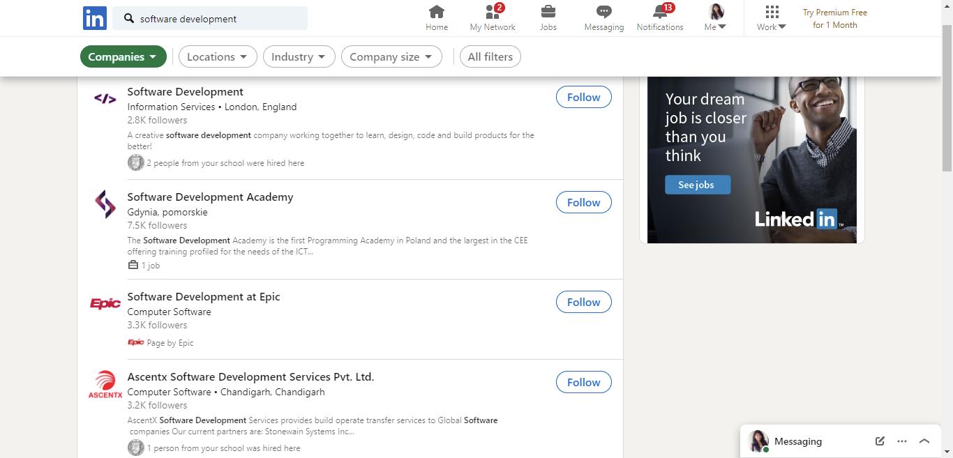 -software-development-Search-LinkedIn
