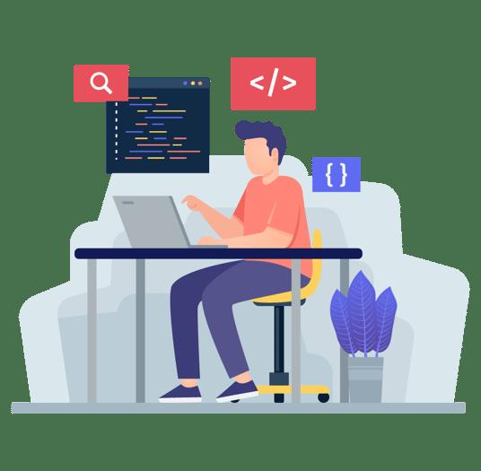 hire remote developers in india 04-IMG-CodingTestOnLaptop