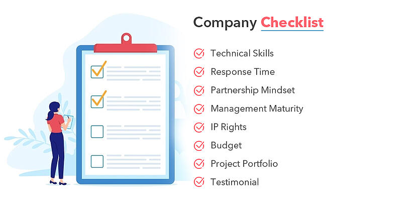 software development outsourcing  company checklist