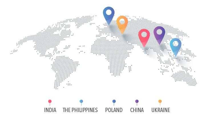 software development outsourcing  top regions