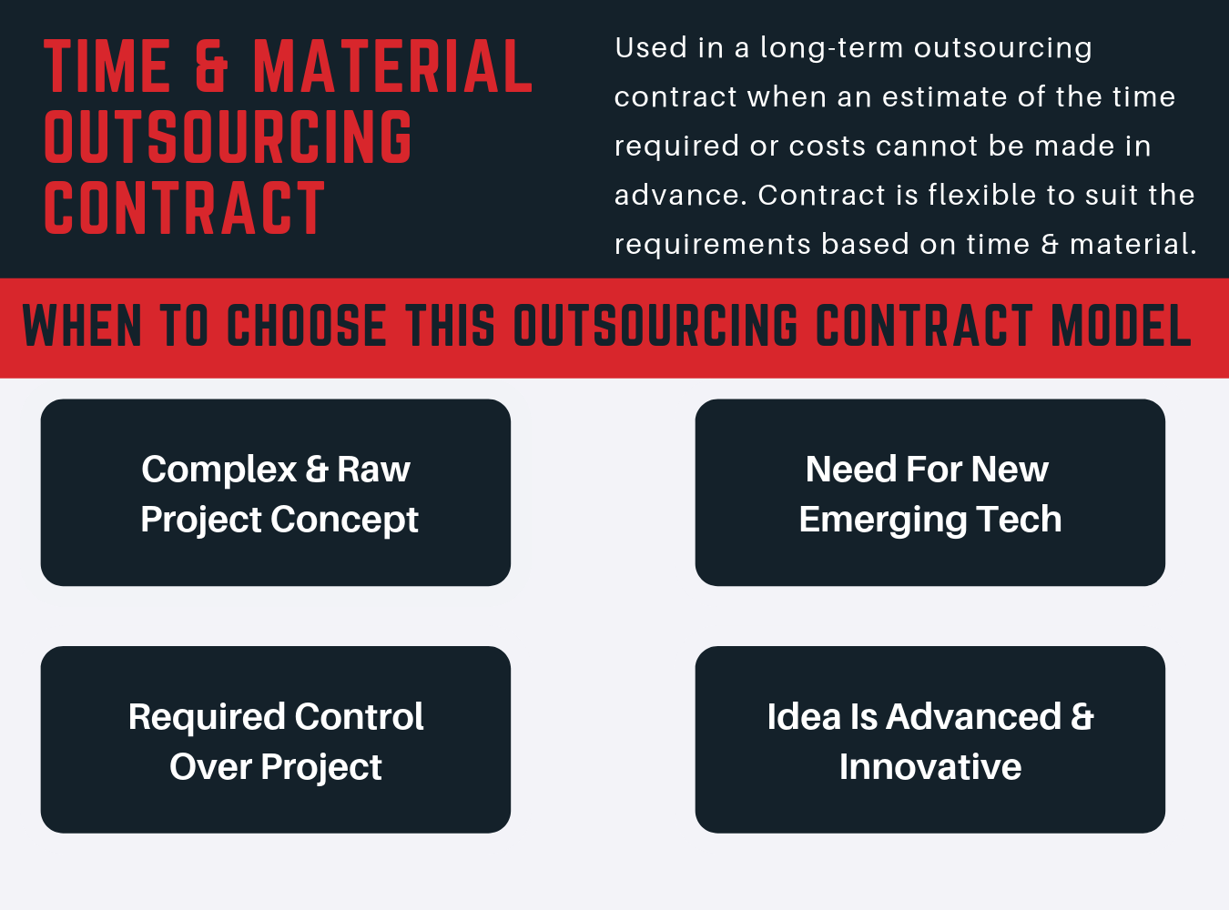 time and material outsourcing contract