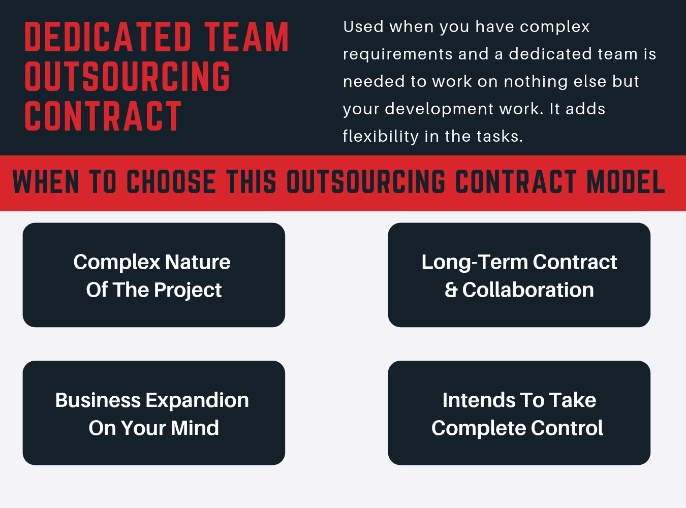 dedicated team outsourcing contract