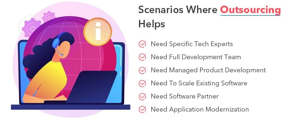 software development outsourcing best scenarios