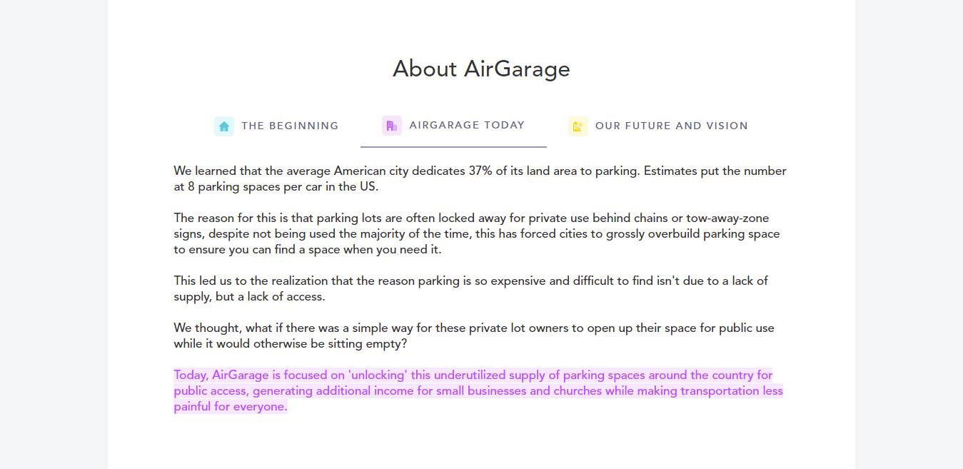 product stories for entrepreneurs AirGarage