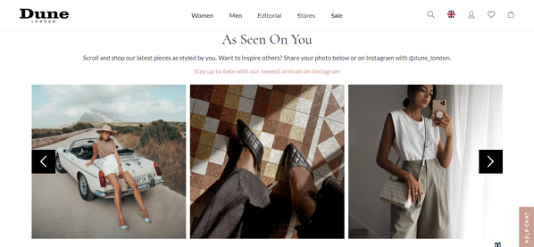 startup marketing ideas  Dune London example of user-generated content
