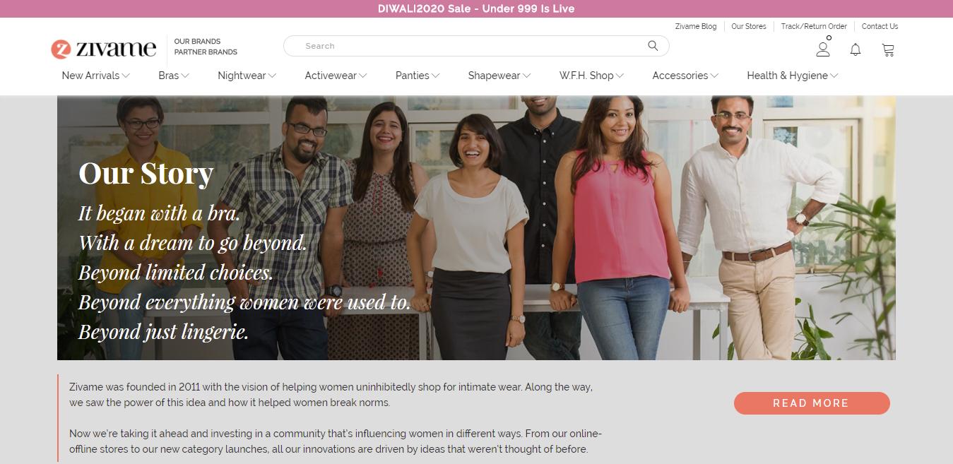 product stories for entrepreneurs Zivame