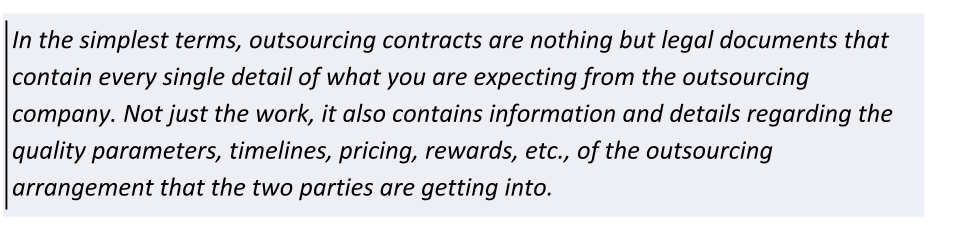 what is outsourcing contract
