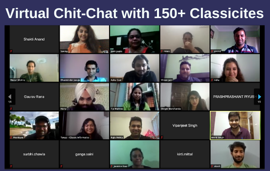 Virtual Chit-Chat with 150+ Classicites (3)
